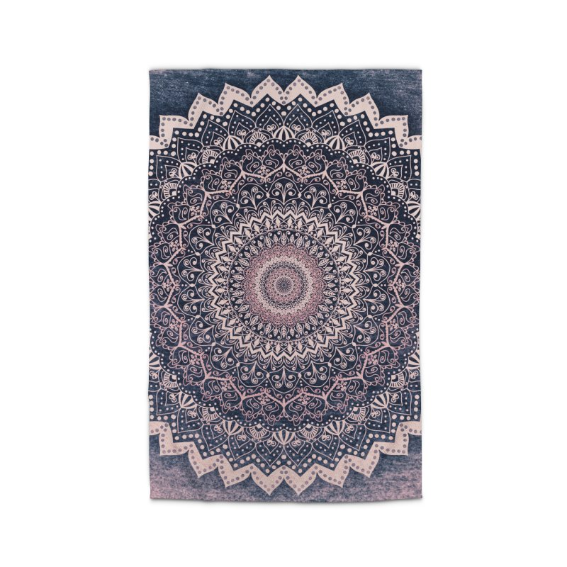 WARM PURPLE MANDALA Home Rug by nika's Artist Shop