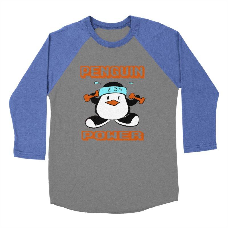 EBA - Penguin Power Men's Baseball Triblend T-Shirt by NIKARNOLDI.art