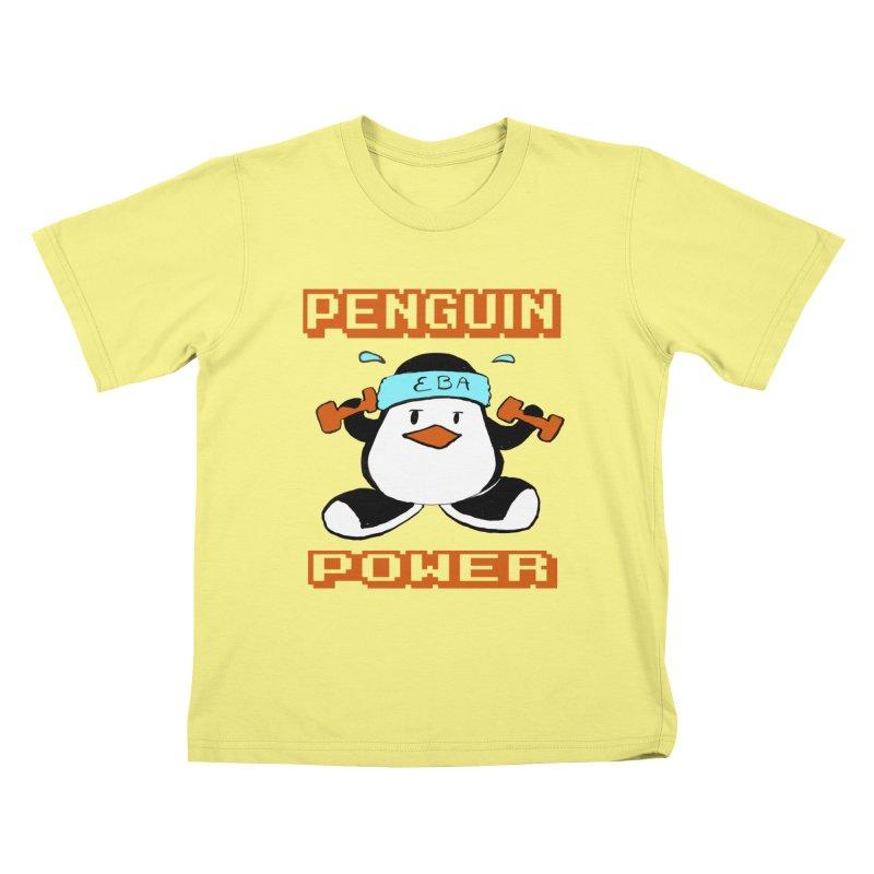 EBA - Penguin Power Kids T-shirt by NIKARNOLDI.art