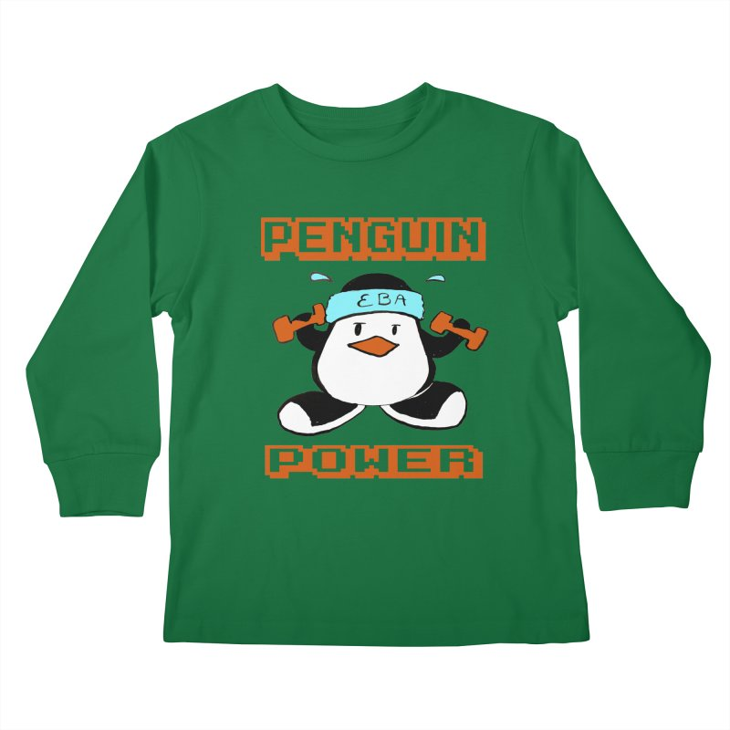 EBA - Penguin Power Kids Longsleeve T-Shirt by NIKARNOLDI.art