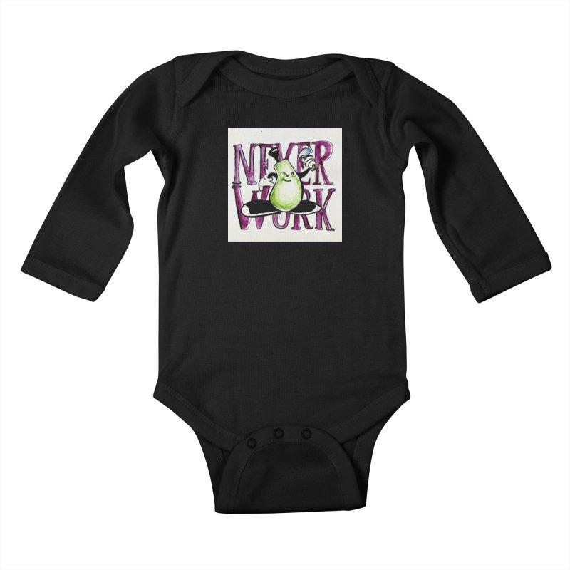 Neverwork Kids Baby Longsleeve Bodysuit by NIKARNOLDI