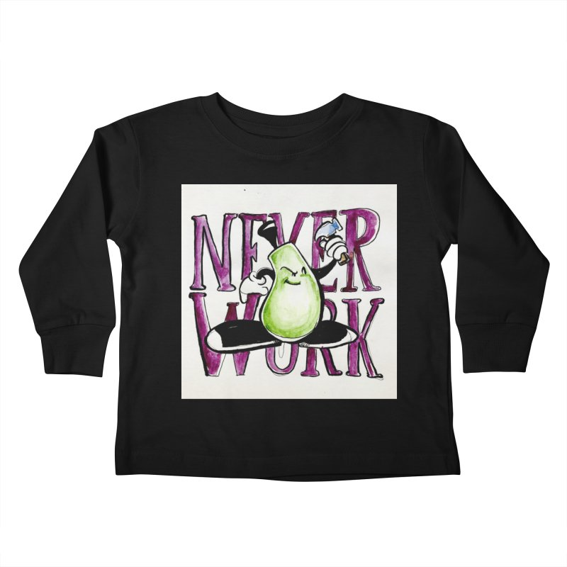 Neverwork Kids Toddler Longsleeve T-Shirt by NIKARNOLDI