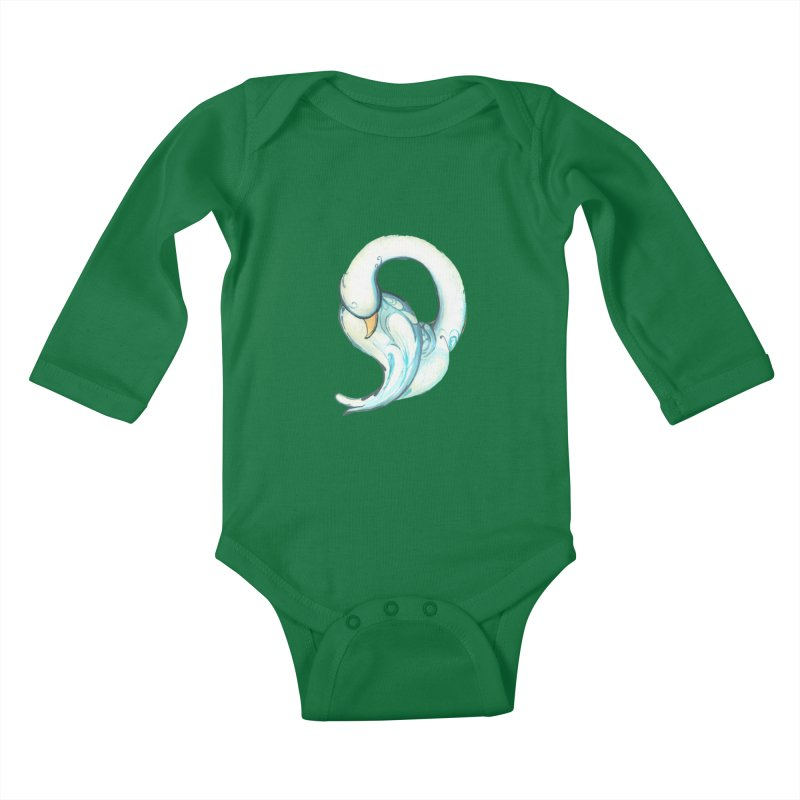 Dancing Quietly Kids Baby Longsleeve Bodysuit by NIKARNOLDI