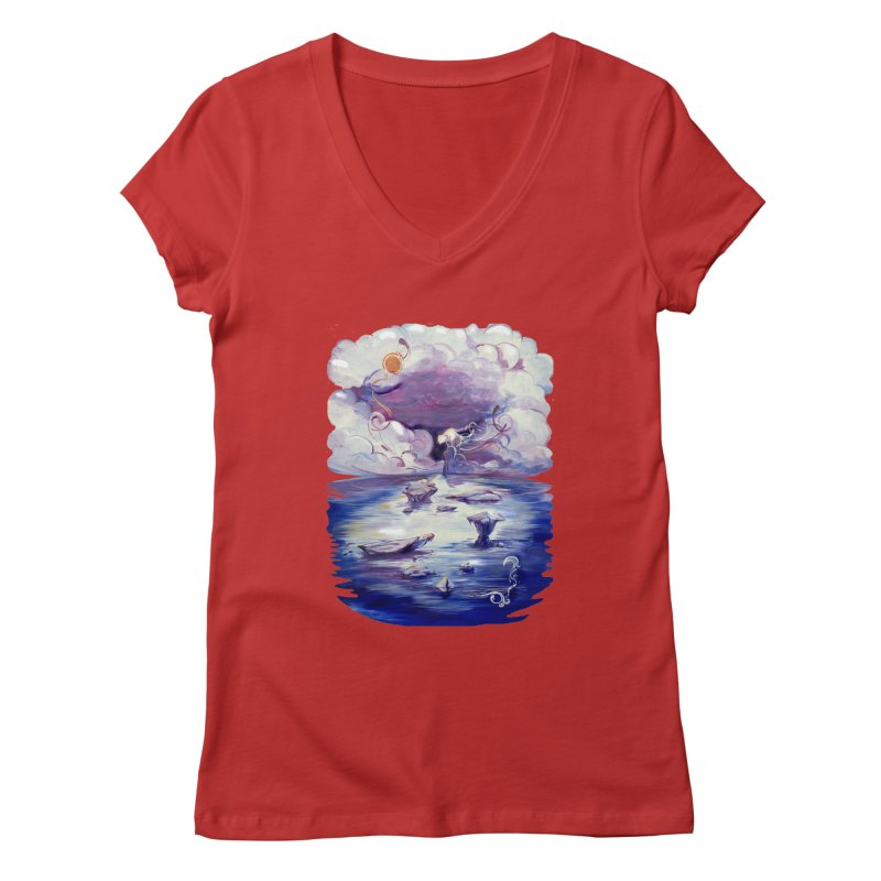 Polar Women's V-Neck by NIKARNOLDI.art