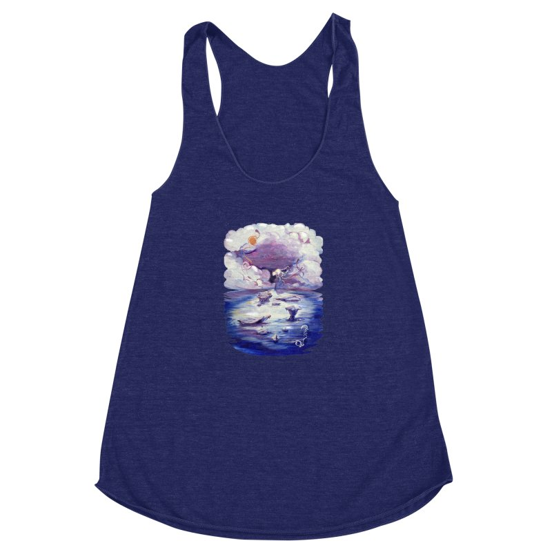 Polar Women's Racerback Triblend Tank by NIKARNOLDI.art