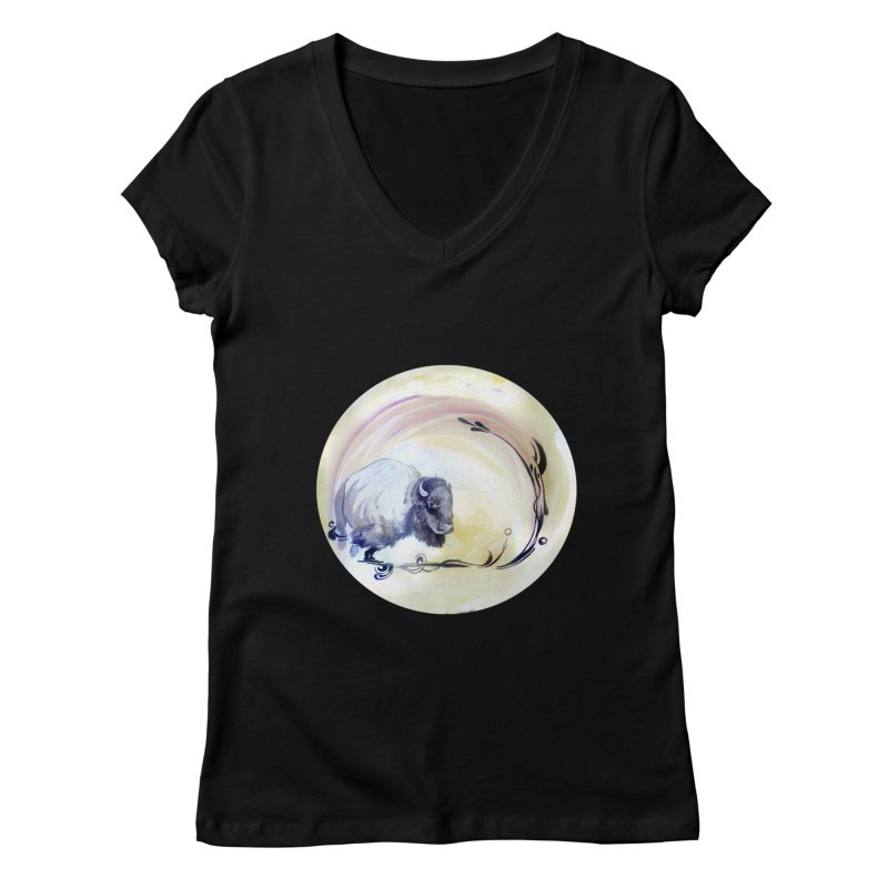 Plains Women's V-Neck by NIKARNOLDI.art