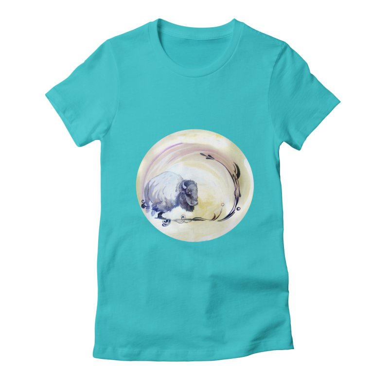 Plains Women's Fitted T-Shirt by NIKARNOLDI.art