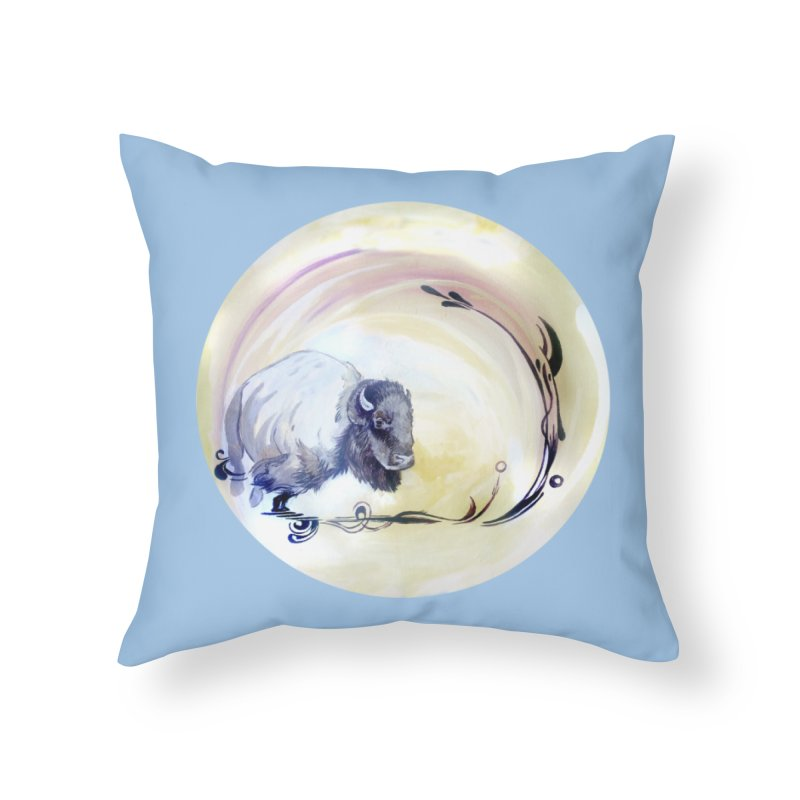 Plains Home Throw Pillow by NIKARNOLDI.art