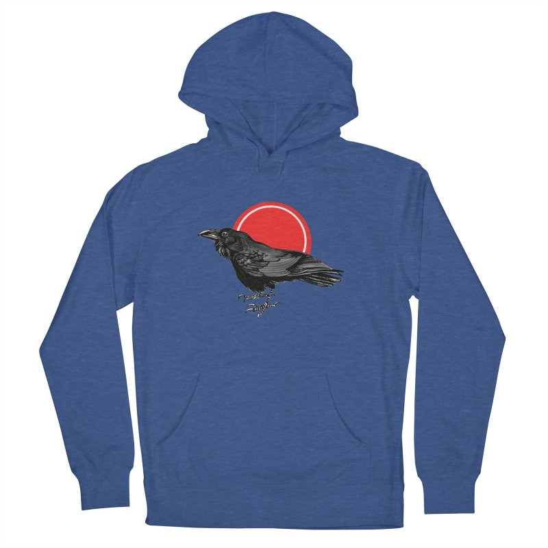 Raven Men's French Terry Pullover Hoody by NIKARNOLDI.art