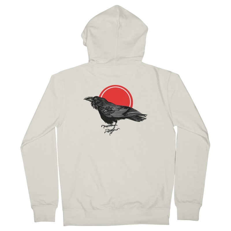 Raven Women's French Terry Zip-Up Hoody by NIKARNOLDI.art