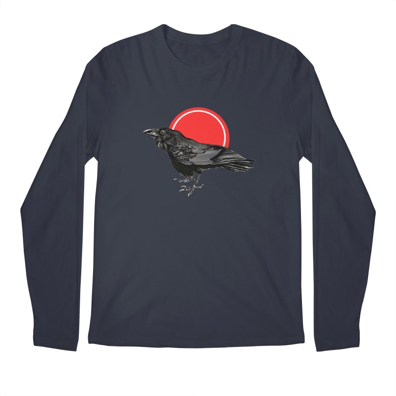 Raven Men's Regular Longsleeve T-Shirt by NIKARNOLDI
