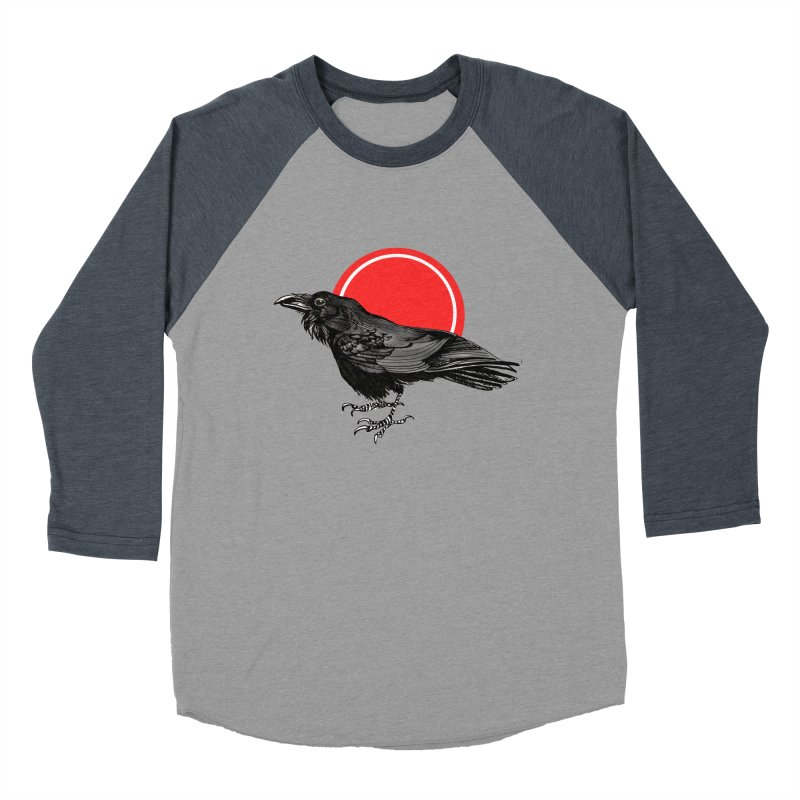 Raven Men's Baseball Triblend Longsleeve T-Shirt by NIKARNOLDI.art