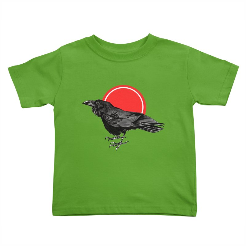 Raven Kids Toddler T-Shirt by NIKARNOLDI
