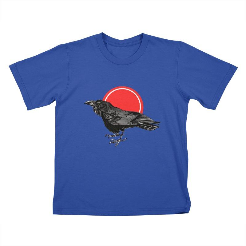 Raven Kids T-Shirt by NIKARNOLDI.art