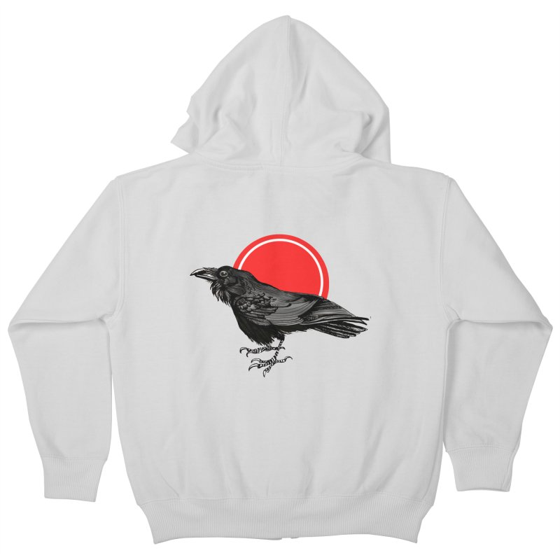 Raven Kids Zip-Up Hoody by NIKARNOLDI.art