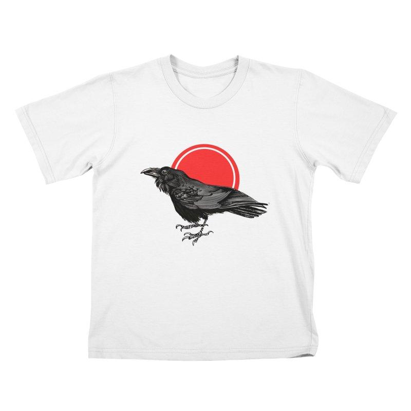 Raven Kids T-Shirt by NIKARNOLDI