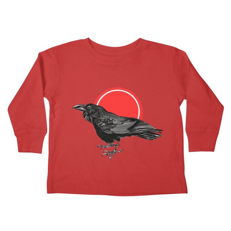 Raven Kids Toddler Longsleeve T-Shirt by NIKARNOLDI