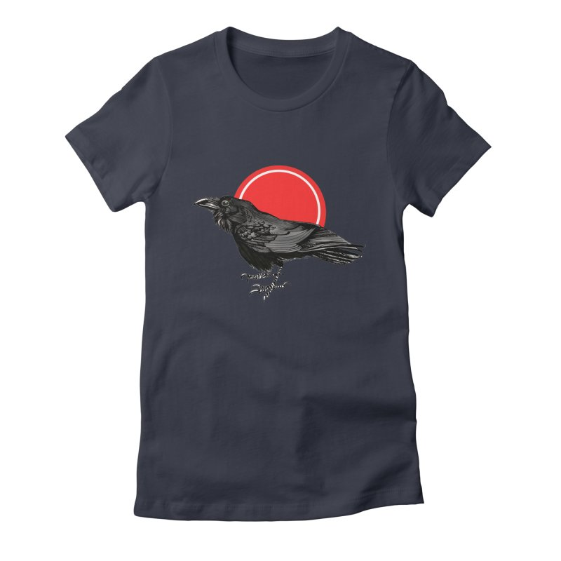 Raven Women's Fitted T-Shirt by NIKARNOLDI