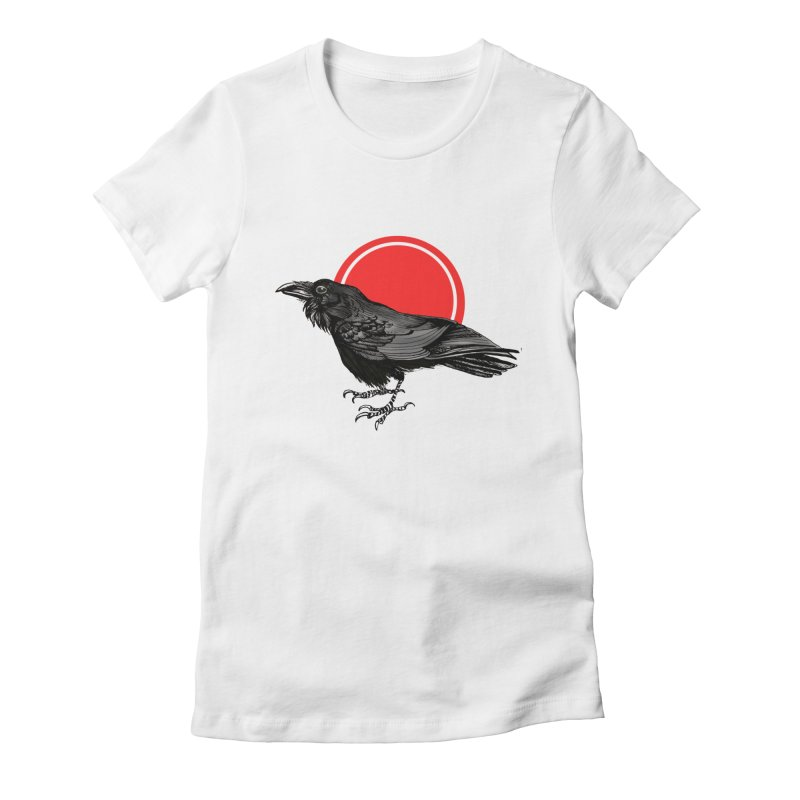 Raven Women's Fitted T-Shirt by NIKARNOLDI.art
