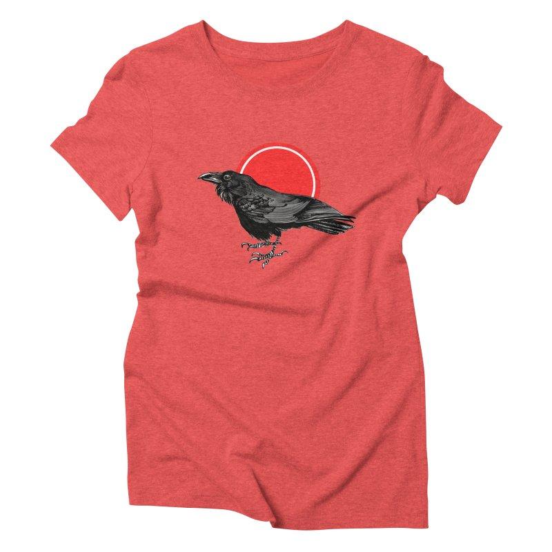 Raven Women's Triblend T-Shirt by NIKARNOLDI.art