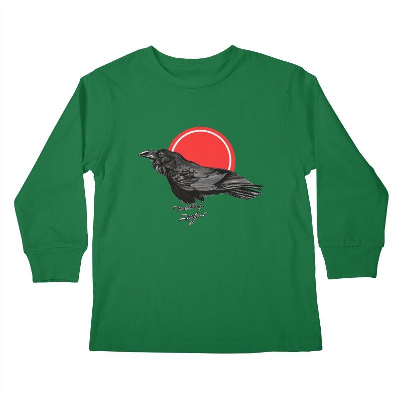Raven Kids Longsleeve T-Shirt by NIKARNOLDI