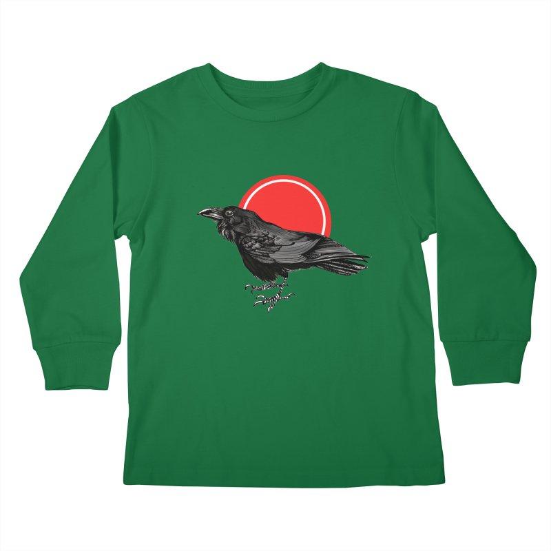 Raven Kids Longsleeve T-Shirt by NIKARNOLDI.art