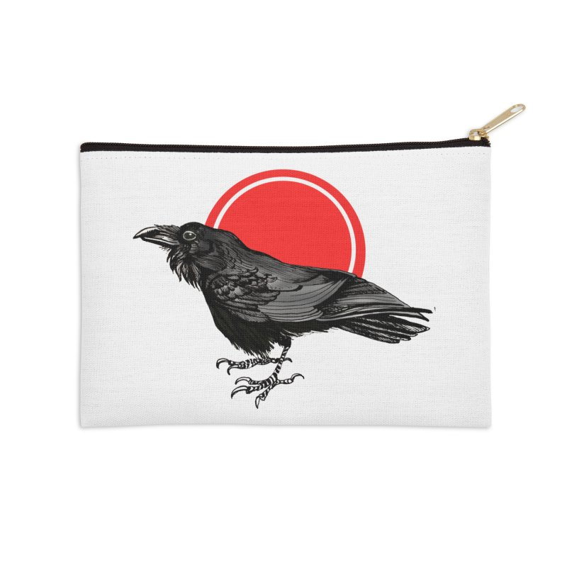 Raven Accessories Zip Pouch by NIKARNOLDI.art