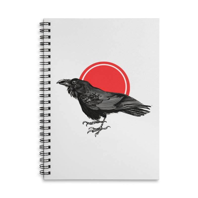 Raven Accessories Lined Spiral Notebook by NIKARNOLDI