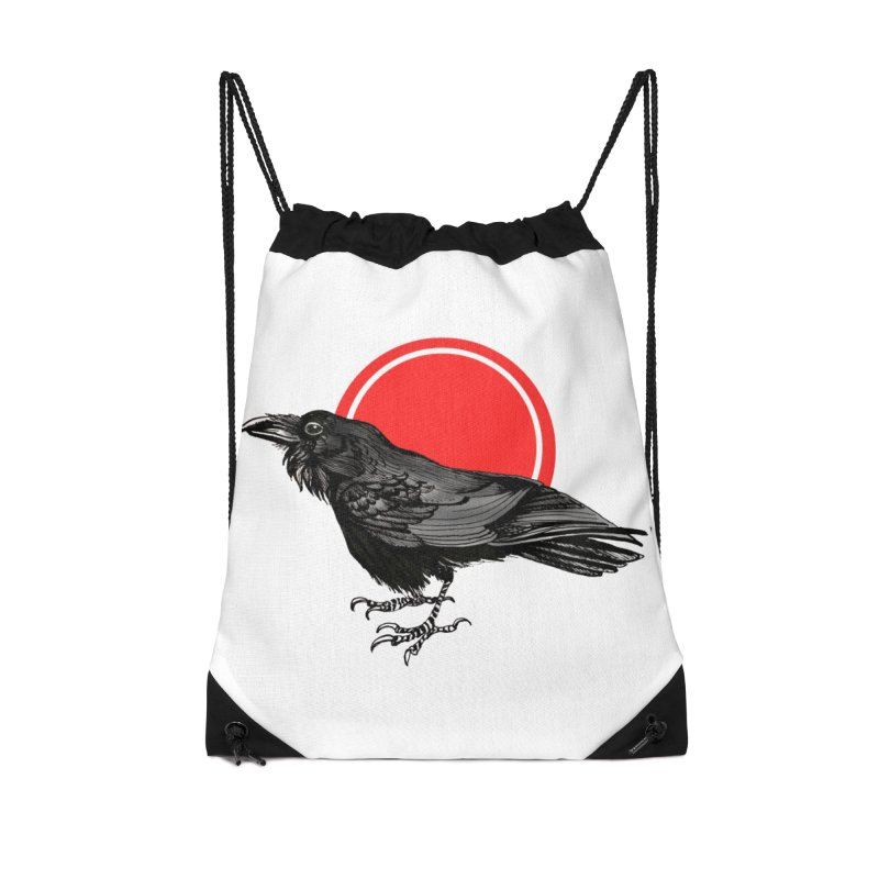 Raven Accessories Drawstring Bag Bag by NIKARNOLDI