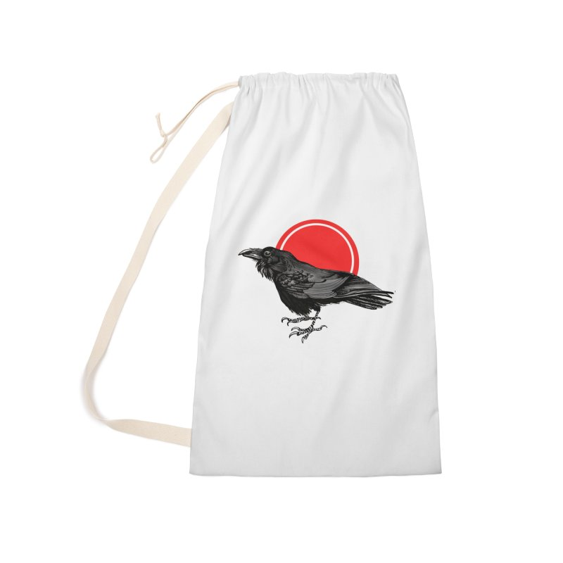 Raven Accessories Laundry Bag Bag by NIKARNOLDI