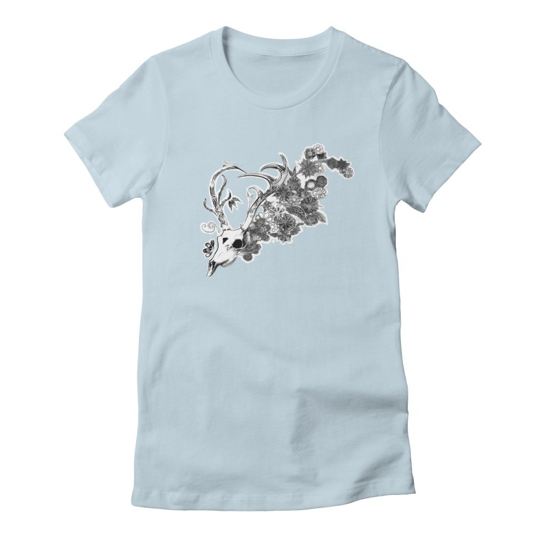 Masquerade Women's Fitted T-Shirt by NIKARNOLDI.art