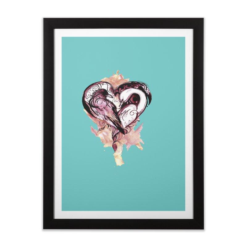 Raven & the Swan Home Framed Fine Art Print by NIKARNOLDI.art