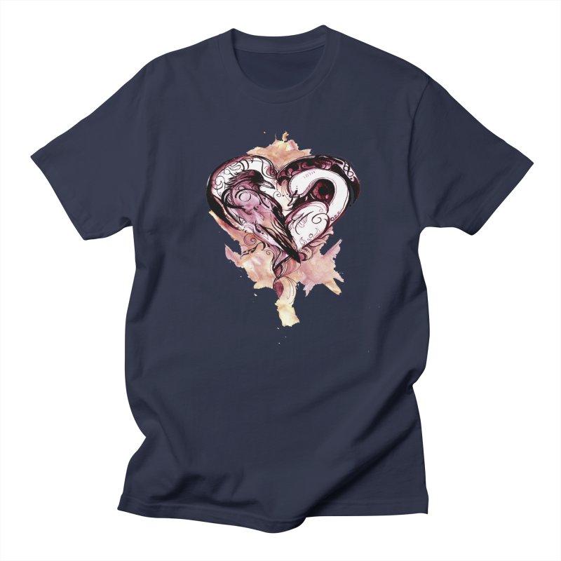 Raven & the Swan Men's T-shirt by NIKARNOLDI.art