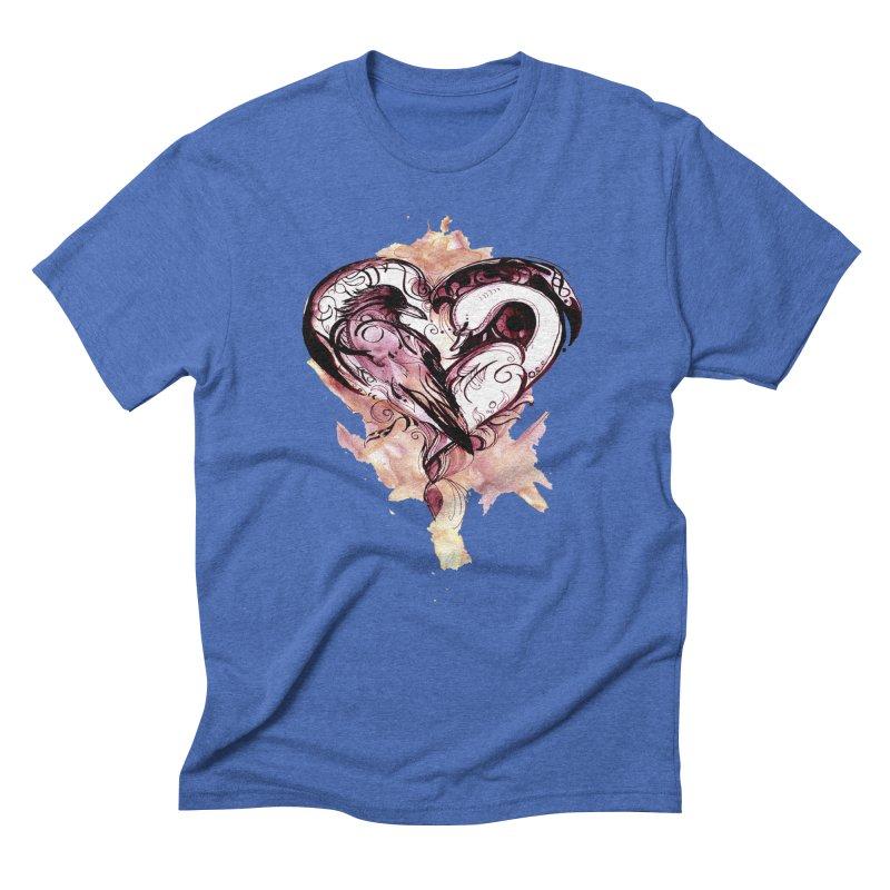 Raven & the Swan Men's Triblend T-shirt by NIKARNOLDI.art