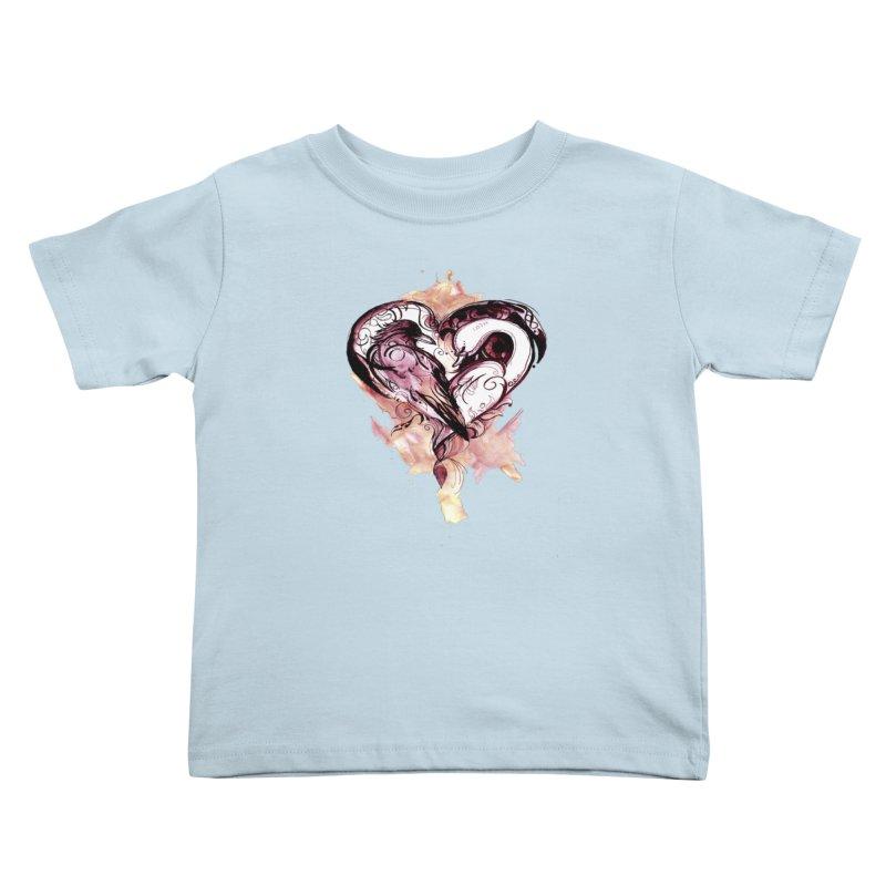Raven & the Swan Kids Toddler T-Shirt by NIKARNOLDI.art