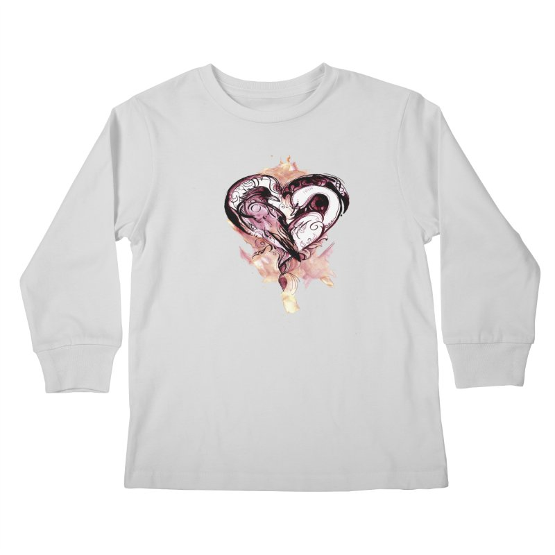 Raven & the Swan Kids Longsleeve T-Shirt by NIKARNOLDI.art