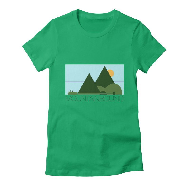 Mountain Bound Women's Fitted T-Shirt by nikkiadamsmusic's Artist Shop