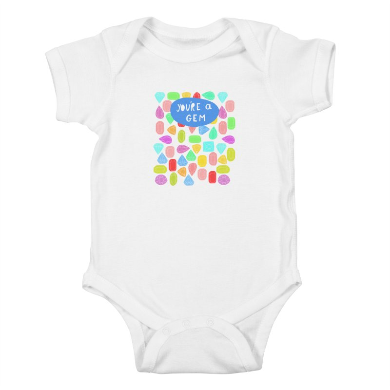 You're A Gem  Kids Baby Bodysuit by nikkimariejackson's Artist Shop