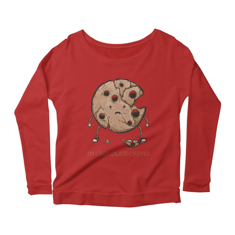 Chocolate Chipped Women's Longsleeve Scoopneck  by Nikoby's Artist Shop