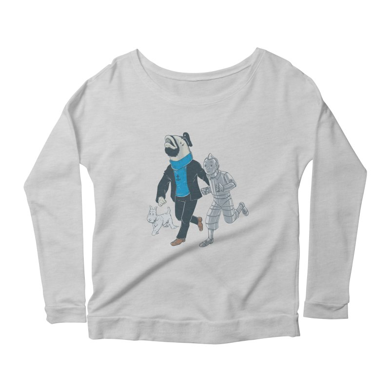 Adventures of Literal Women's Longsleeve Scoopneck  by Nikoby's Artist Shop