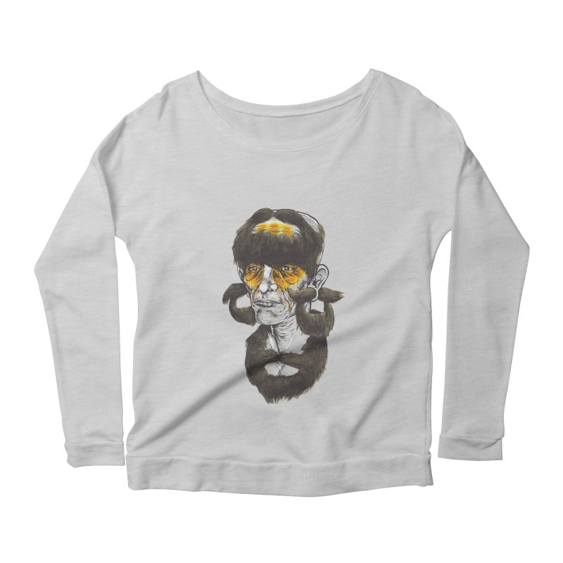 Beard Hunter Women's Longsleeve Scoopneck  by Nikoby's Artist Shop
