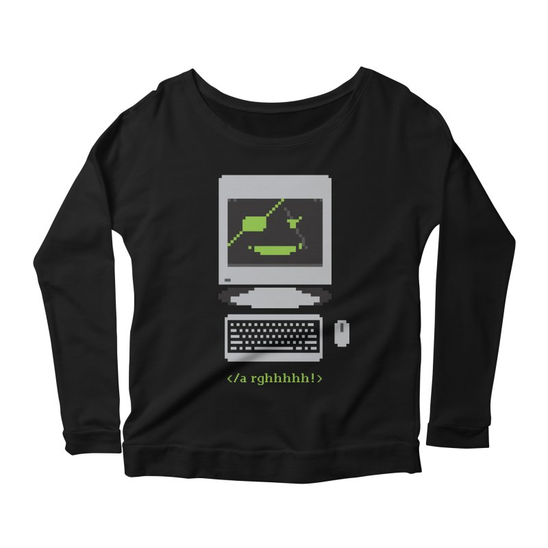 Computer Pirate Women's Longsleeve Scoopneck  by Nikoby's Artist Shop