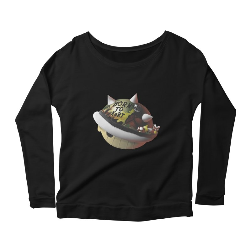 Born to Kart Women's Longsleeve Scoopneck  by Nikoby's Artist Shop