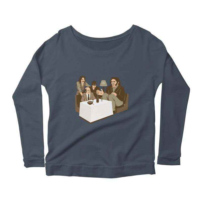 Dinner with Andre Women's Longsleeve Scoopneck  by Nikoby's Artist Shop