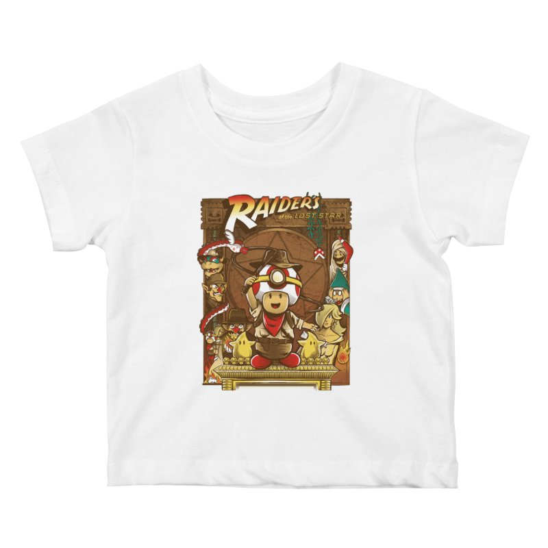 Raiders of the Lost Star Kids Baby T-Shirt by Nikoby's Artist Shop