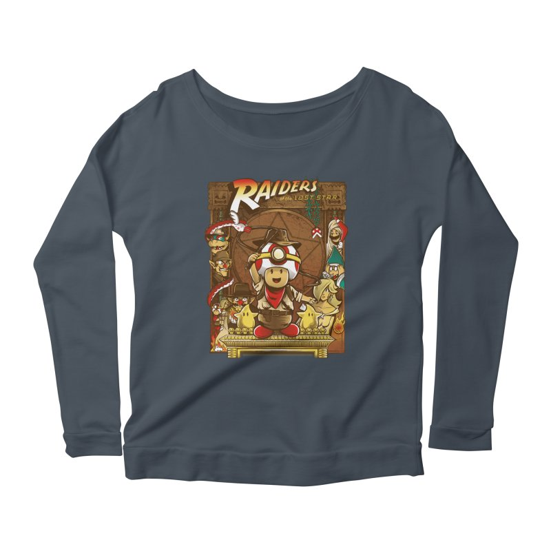 Raiders of the Lost Star Women's Longsleeve Scoopneck  by Nikoby's Artist Shop