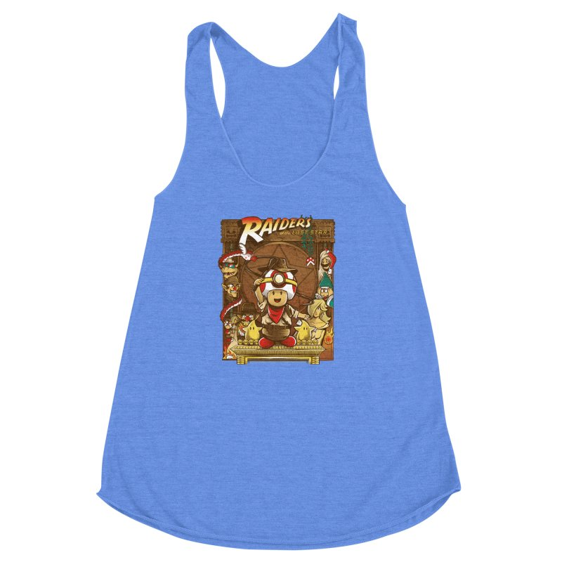Raiders of the Lost Star Women's Racerback Triblend Tank by Nikoby's Artist Shop