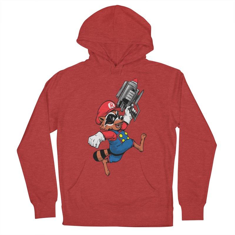 Super Raccoon Men's Pullover Hoody by Nikoby's Artist Shop