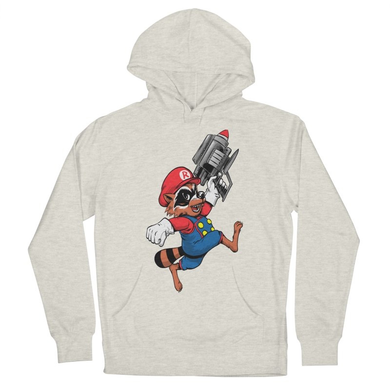 Super Raccoon Men's Pullover Hoody by Nikoby's Artist Shop
