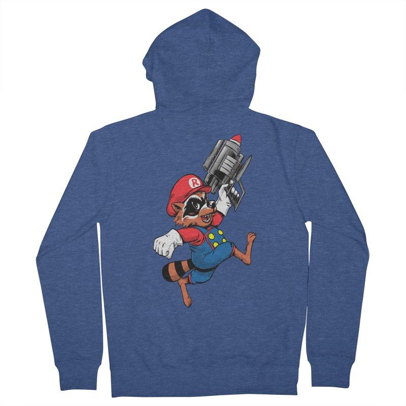 Super Raccoon Men's Zip-Up Hoody by Nikoby's Artist Shop